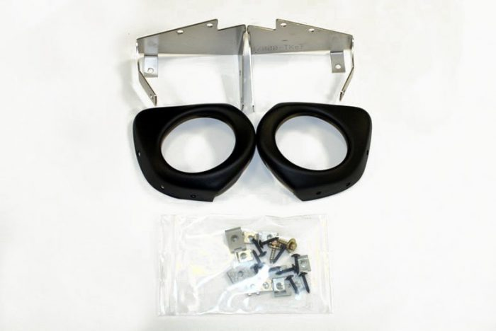 Kerscher Foglamp Mounting Kit for Front Spoiler Insert, fits Audi A4 B6