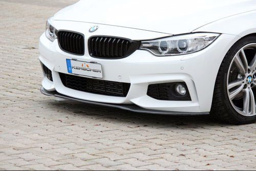 Kerscher Front Spoiler Splitter for M-technik Bumper, fits BMW 4-Series F32/33/36