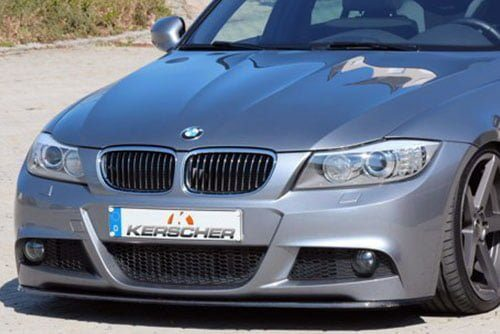 Kerscher Front Spoiler Splitter Carbon LCI for M Bumper, fits BMW 3-Series E90/E91