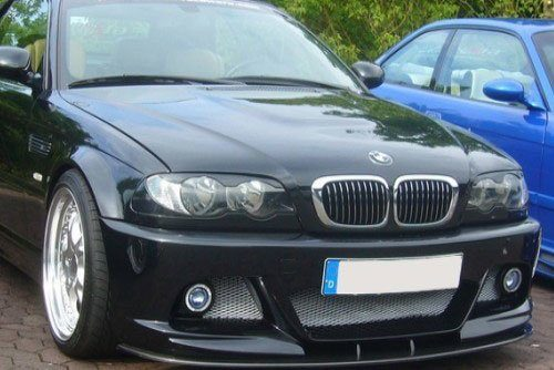 Kerscher Front Spoiler Splitter Carbon for M-Line 2, fits BMW 3-Series E46