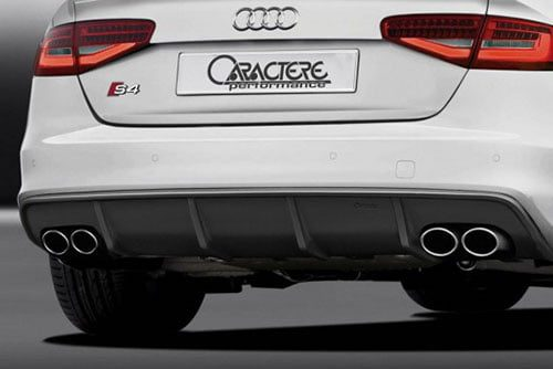 Caractere Rear Diffuser with 2 Cuttings, fits Audi S4 B8.0
