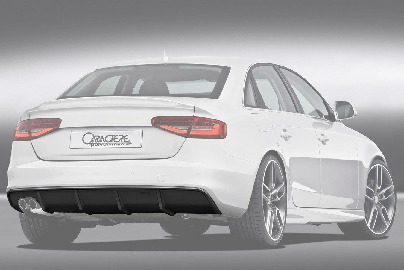 Caractere Rear Diffuser With 1 Large Cutting Fits Audi A4 B8 5 2 0 Tdi 1 8 2 0 Tfsi Bk Motorsport