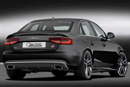 Caractere Rear Diffuser with Dual Exhaust, fits Audi A4 B8.5 2.0 TDI / 1.8 TFSI