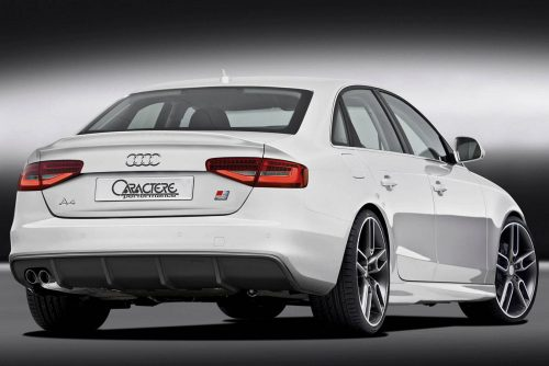 Caractere Rear Diffuser with 1 Large Cutting, fits Audi A4 B8.5 S-Line 2.0 TDI / 1.8-2.0 TFSI
