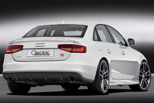 Caractere Rear Diffuser with 2 Cuttings, fits Audi A4 B8.5 S-Line 3.0 TDI / 2.0-3.0 TFSI