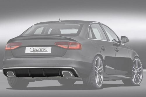 Caractere Rear Diffuser with Dual Caractere Muffler, fits Audi A4 B8.5 S-Line 2.0 TFSI