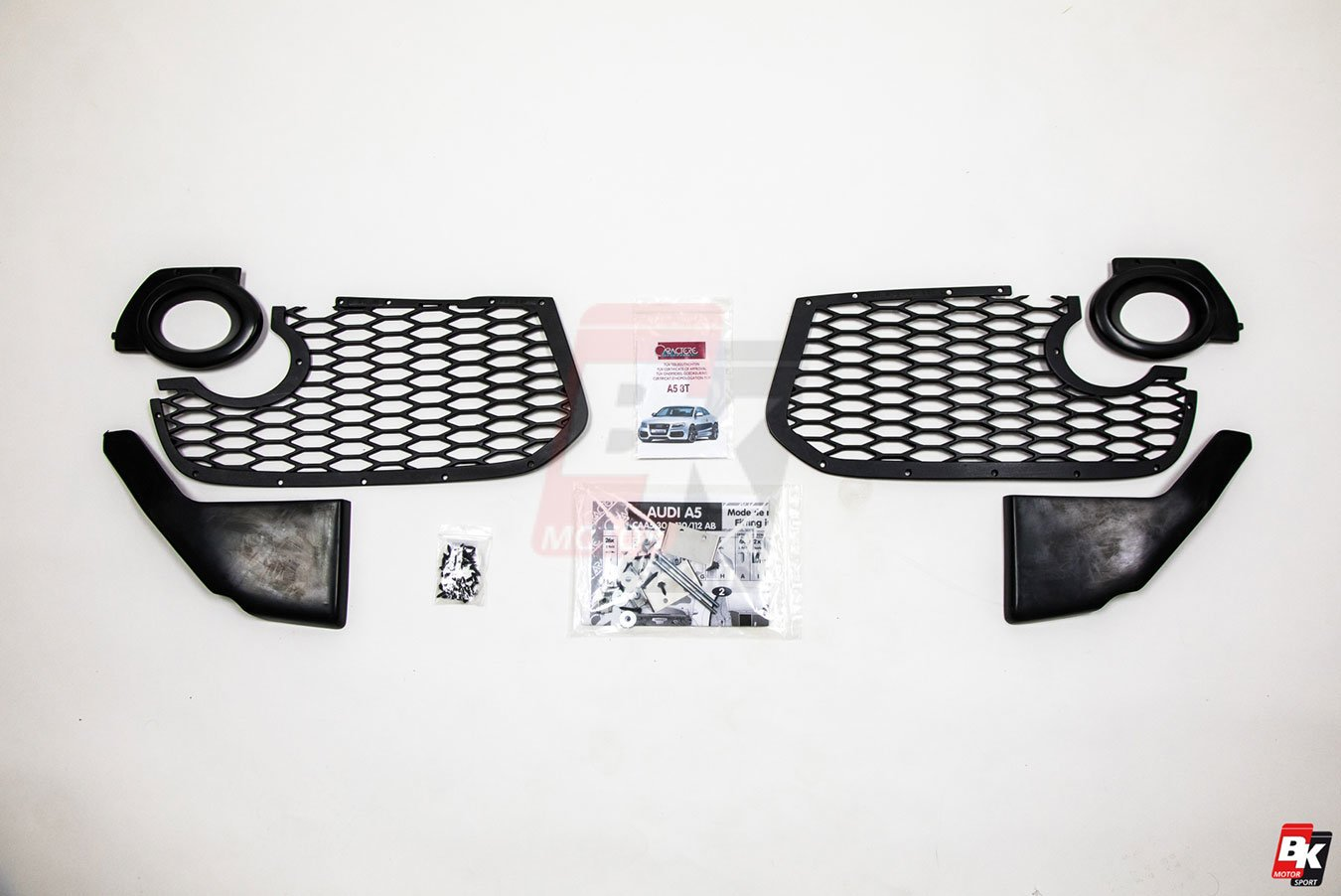 Caractere Front Bumper for Cars with Original Foglights and Parking Sensors, fits Audi A5 B8.0
