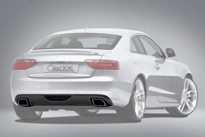 Caractere Rear Diffuser with 2 Mufflers, fits Audi A5 B8.0 2.0 TDI / 1.8 TFSI