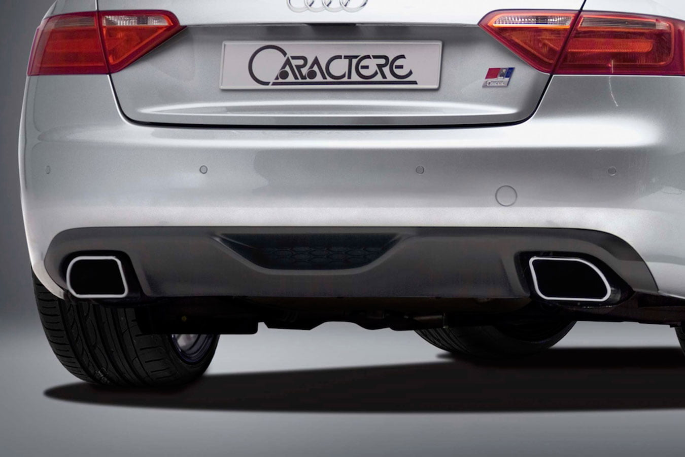 Caractere Rear Diffuser with 2 Mufflers, fits Audi A5 B8.0 2.0 TFSI
