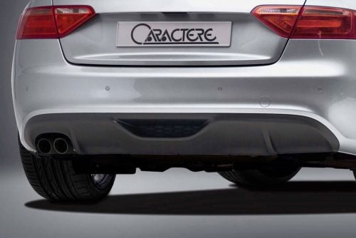 Caractere Rear Diffuser with 1 Large Cutting, fits Audi A5 B8.0 S-Line 2.0 TDI / 1.8-2.0 TFSI