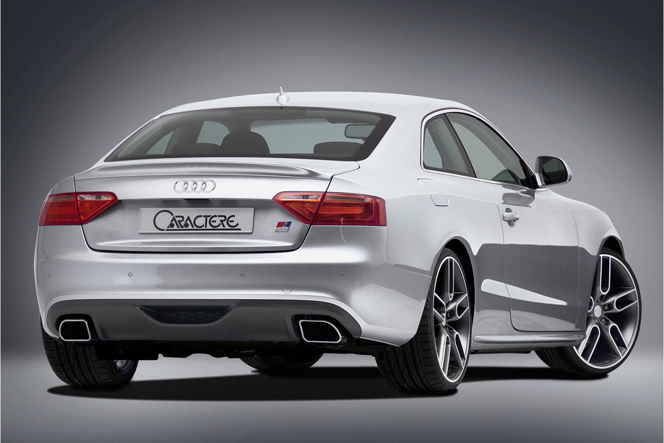 Caractere Rear Diffuser with 2 Mufflers, fits Audi A5 B8.0 S-Line 2.7-3.0 TDI / 3.2 V6