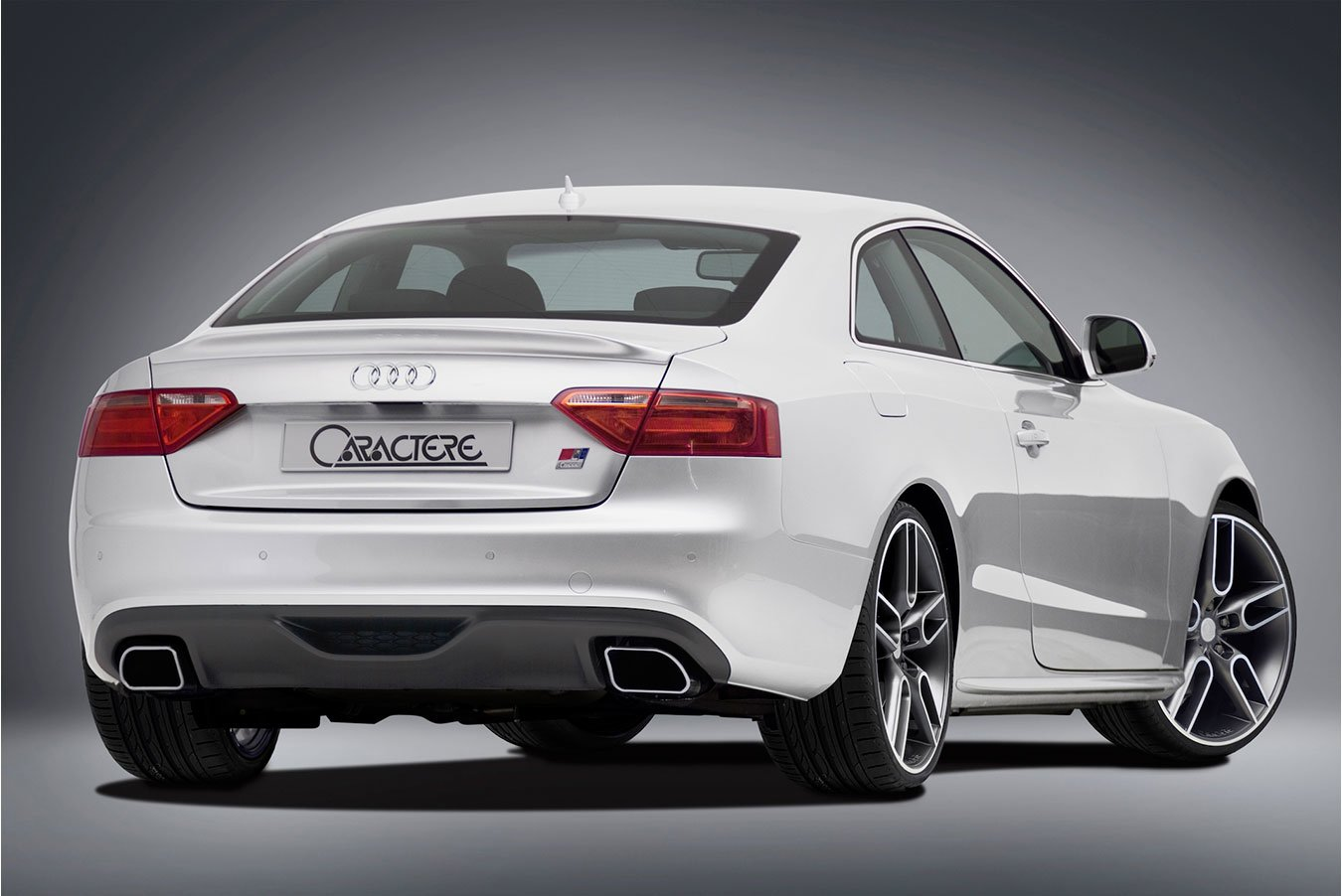 Caractere Rear Diffuser with 2 Mufflers, fits Audi A5 B8.0 S-Line 2.0 TFSI