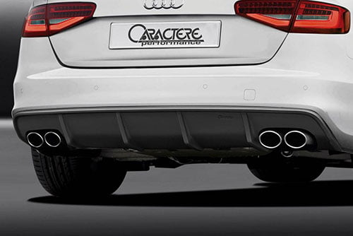 Caractere Rear Diffuser with 2 Large Cuttings, fits Audi S5 B8.0