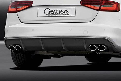 Caractere Rear Diffuser with 2 Large Cuttings, fits Audi S5 B8.5