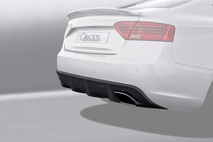 Caractere Rear Diffuser with Dual Exhaust, fits Audi A5 B8.5 3.0 TDI / 3.0 TFSI