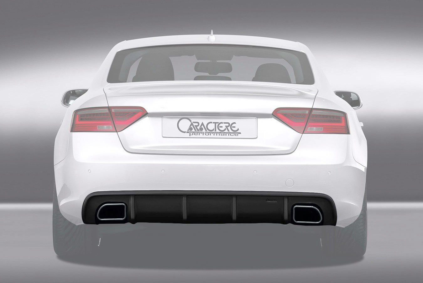 Caractere Rear Diffuser With Dual Exhaust Fits Audi A5 B8 5 2 0 Tfsi Bk Motorsport