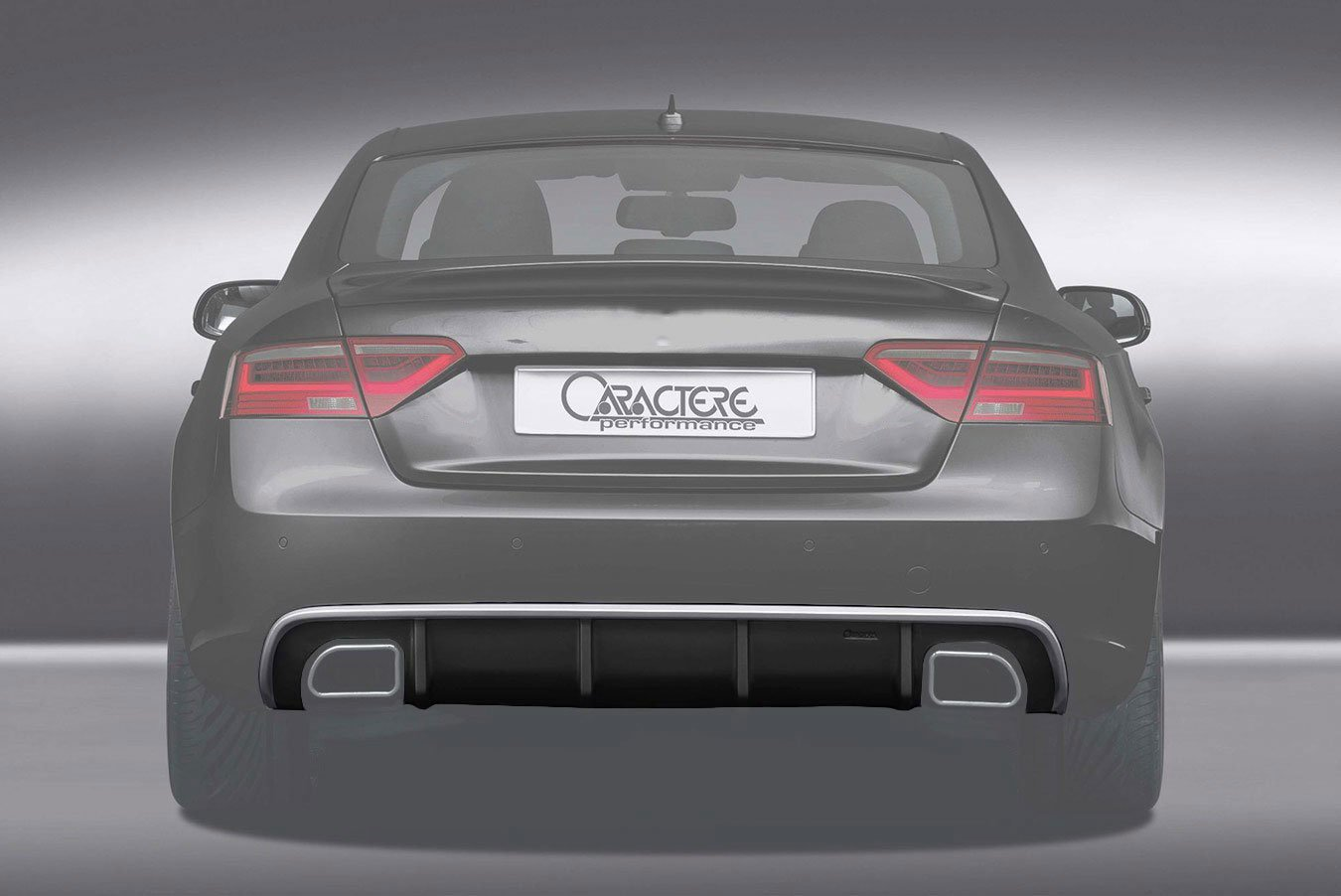Caractere Rear Diffuser With 2 Cuttings For Caractere Exhaust Fits Audi A5 B8 5 Sportback S Line Bk Motorsport