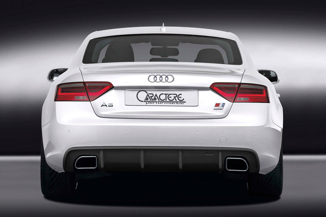 A5 b8 fl rear diffuser with dual exhaust for 3 0 tfsi 3 0 tdi