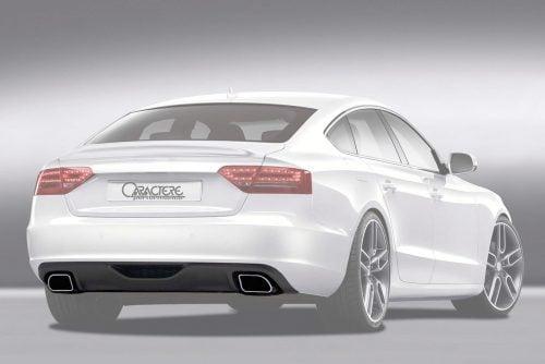 Caractere Rear Diffuser with 2 Mufflers, fits Audi A5/S5 B8.0 Sportback 2.0 TDI / 1.8 TFSI
