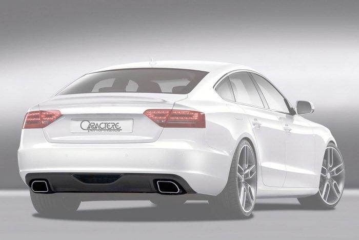 Caractere Rear Diffuser with 2 Mufflers, fits Audi A5 B8.0 Sportback 2.0 TDI / 1.8 TFSI