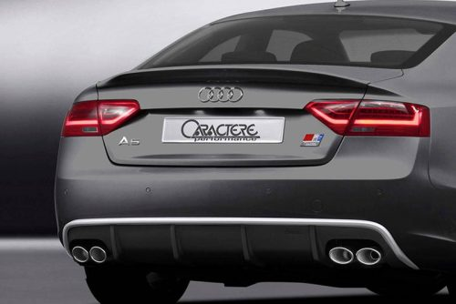Caractere Rear Diffuser with 2 Cuttings, fits Audi A5 B8.5 Sportback 3.0 TDI / 1.8-2.0-3.0 TFSI