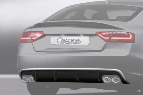 Caractere Rear Diffuser with 2 Cuttings, fits Audi A5/S5 B8.5 Sportback 3.0 TDI / 1.8-2.0-3.0 TFSI