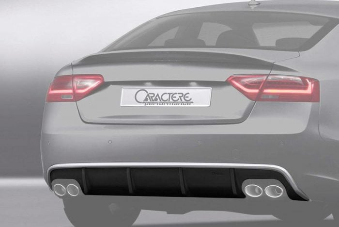 Caractere Rear Diffuser with 2 Cuttings, fits Audi A5 B8.5 Sportback 3.0 TDI / 1.8-2.0-3.0 TFSI