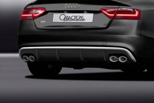 Caractere Rear Diffuser with 2 Cuttings, fits Audi A5 B8.5 Sportback S-Line 3.0 TDI / 1.8-2.0-3.0 TFSI