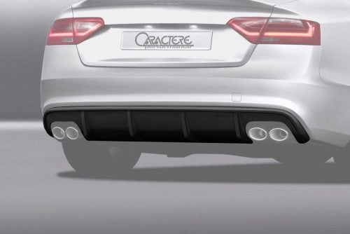 Caractere Rear Diffuser with 2 Cuttings, fits Audi A5/S5 B8.5 Sportback S-Line 3.0 TDI / 1.8-2.0-3.0 TFSI