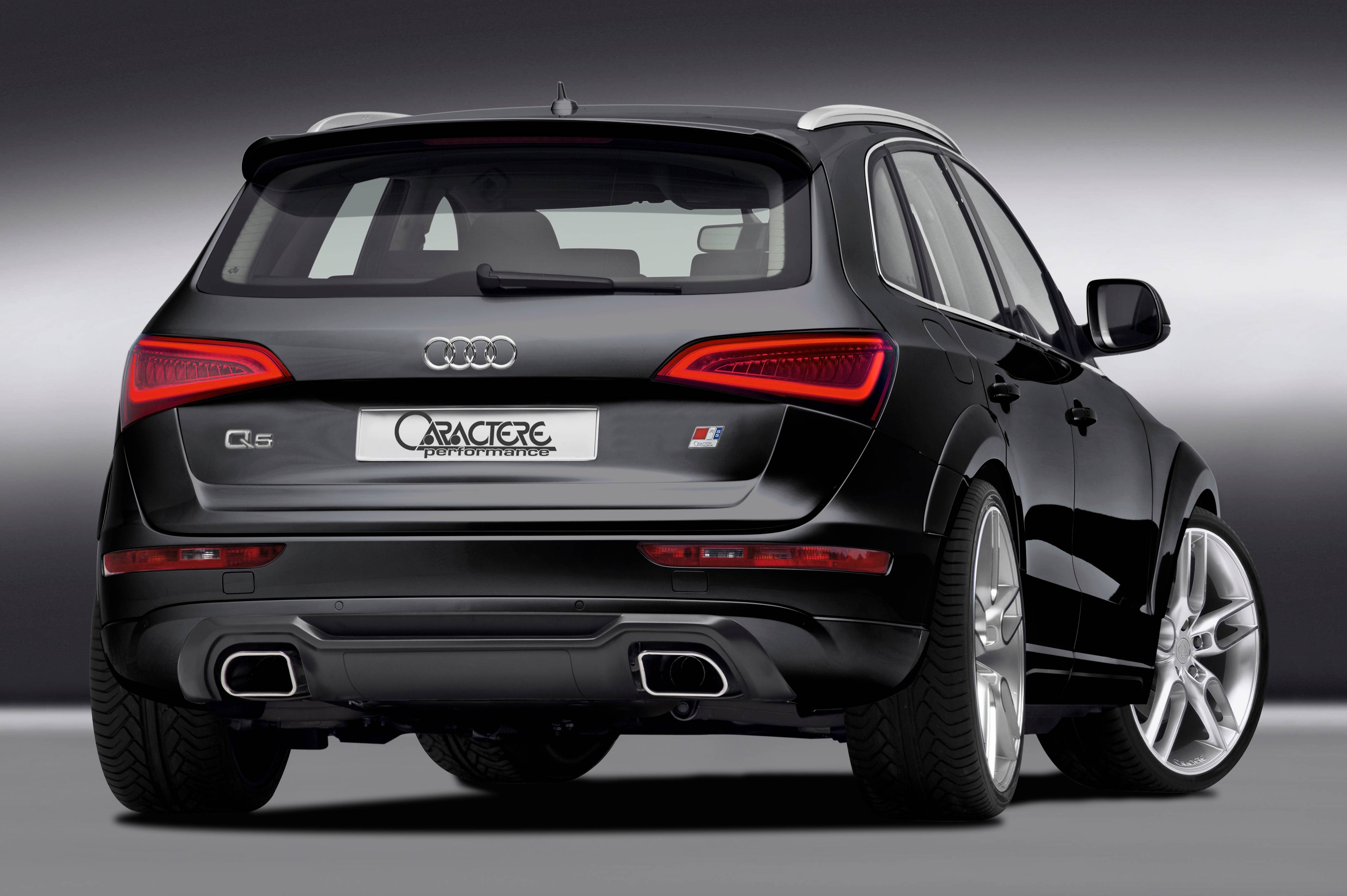 Caractere Rear Diffuser with Caractere Dual Exhaust, fits Audi Q5 B8.0/B8.5 2.0 TDI