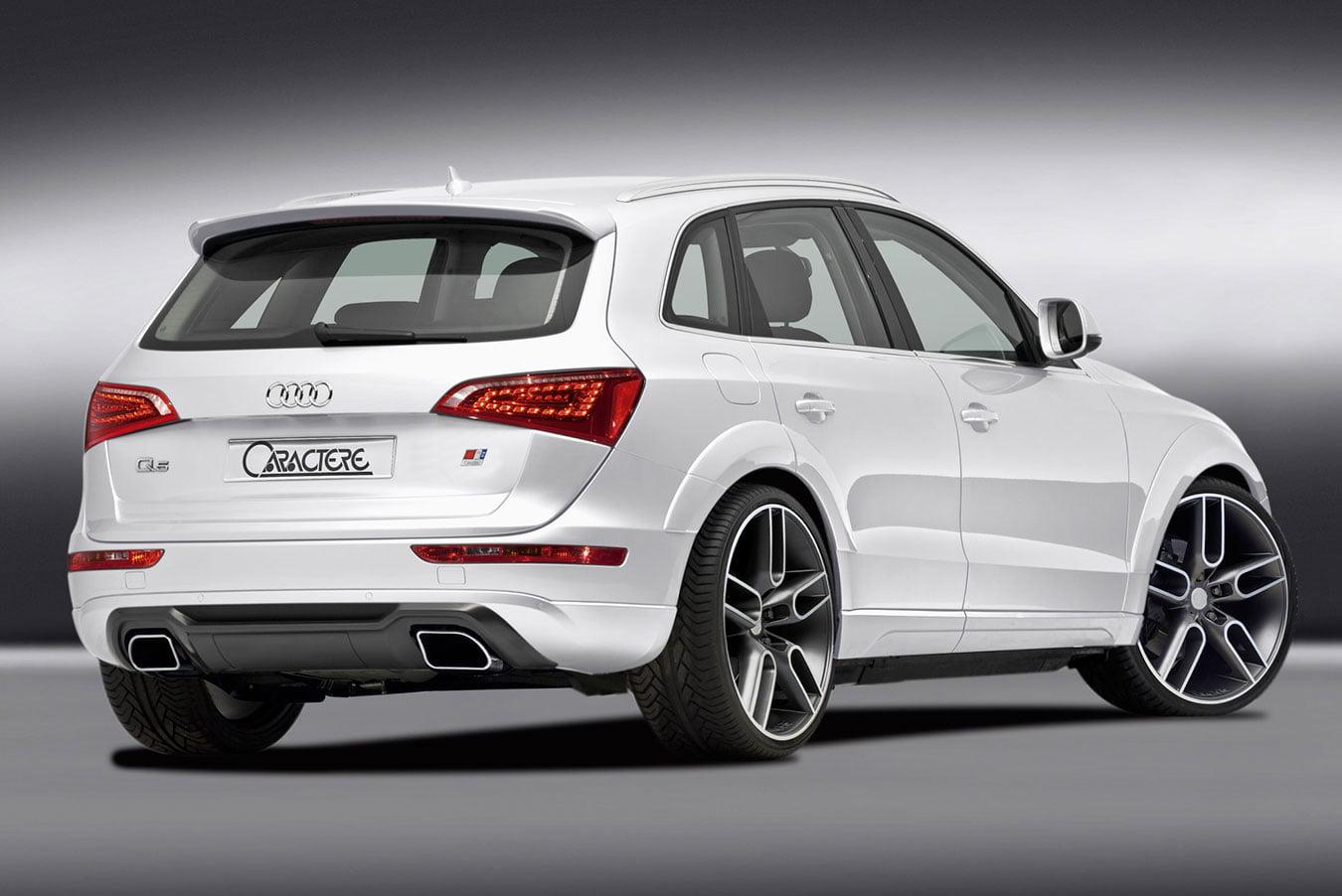 Caractere Rear Diffuser with Caractere Dual Exhaust, fits Audi Q5 B8.0/B8.5 3.0 TDI / 2.0 TFSI / 3.2 FSI