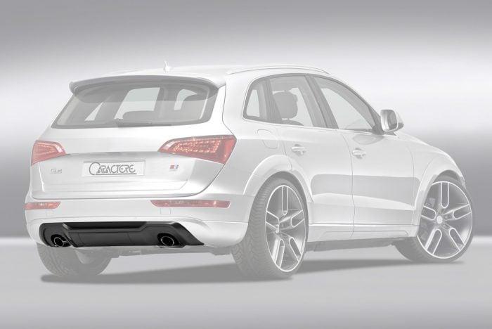 Caractere Rear Diffuser with 2 Cuttings, fits Audi Q5 B8.0/B8.5 3.0 TDI / 2.0 TFSI / 3.2 FSI