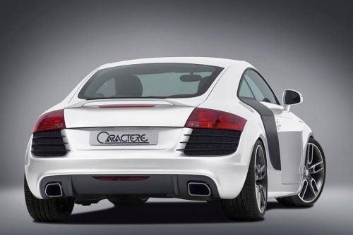 Caractere Rear Bumper for Cars Prepared for Caractere Muffler, fits Audi TT Mk2