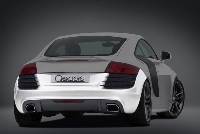 Caractere Rear Bumper for Cars with Parking System, fits Audi TT Mk2 2.0 T / 3.2 V6