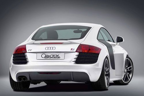 Caractere Rear Bumper for Cars with 1 Cutting with Parking System, fits Audi TT Mk2 2.0 T