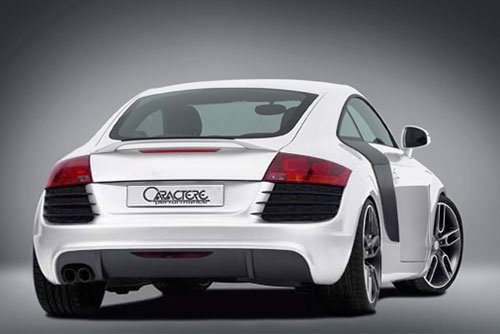 Caractere Rear Bumper for Cars with 1 Cutting, fits Audi TT Mk2 2.0 T