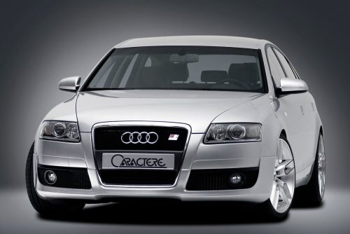 Caractere Front Spoiler for Cars with Original Foglights, fits Audi A6 C6