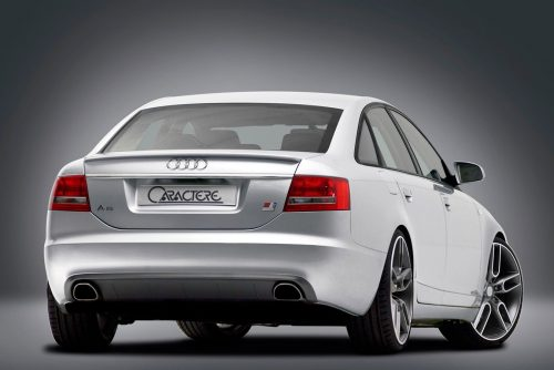 Caractere Rear Diffuser with 2 Exhaust Pipes, fits Audi A6 C6