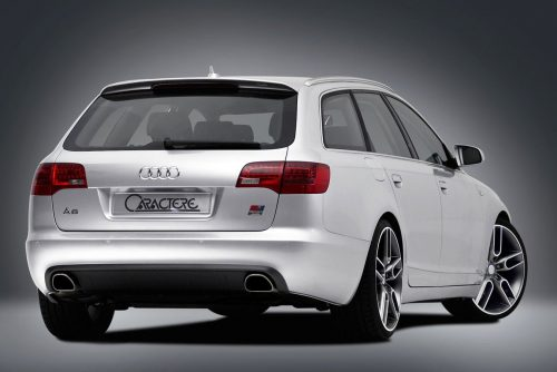 Caractere Rear Diffuser with 2 Exhaust Pipes, fits Audi A6 C6 Avant