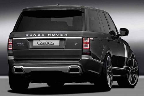 Range Rover Rear Bumper With Dual Inox Exhaust Pipes