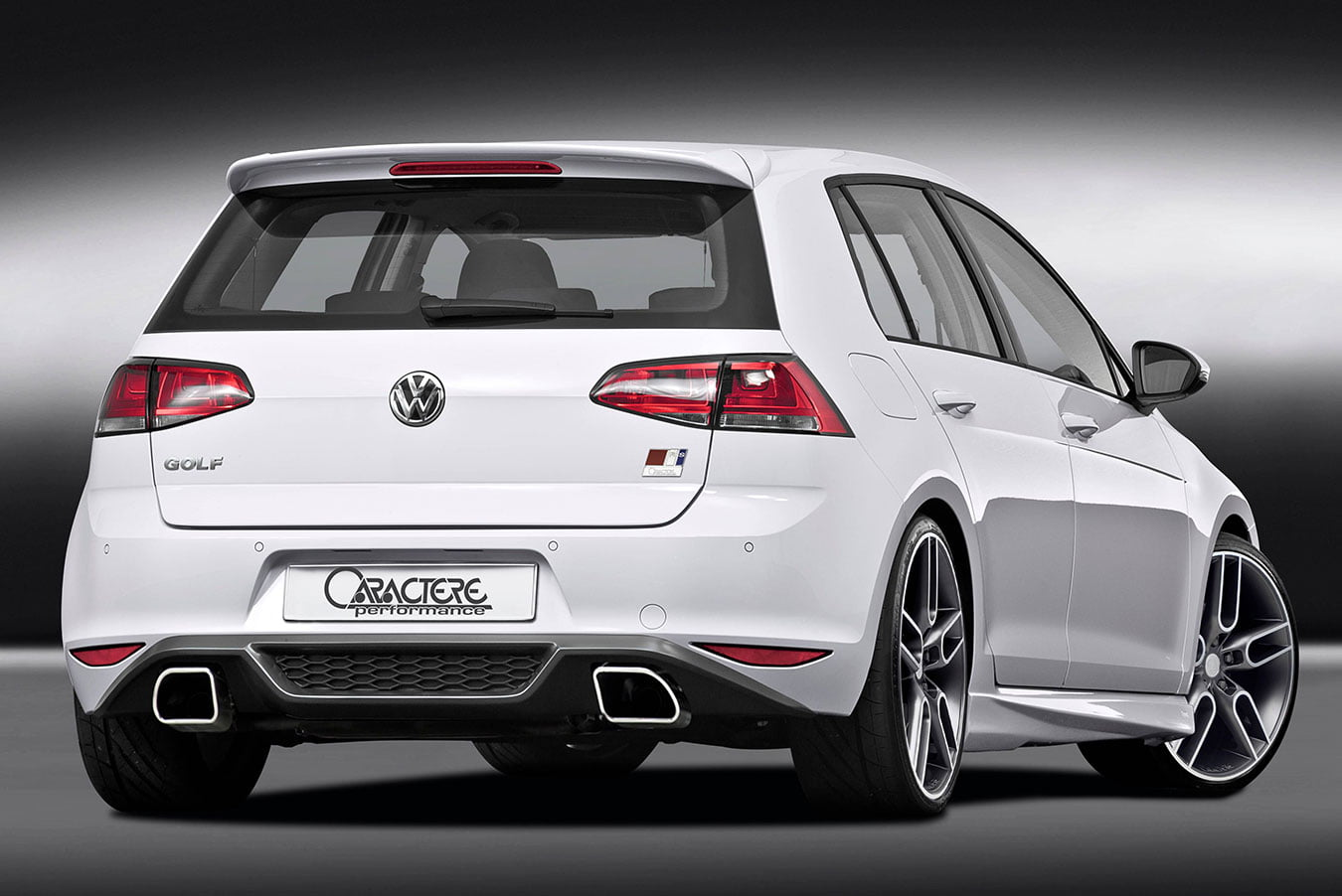 Golf 7 Rear Diffuser with Caractere Exhaust