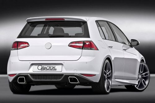 Caractere Rear Diffuser with Exhaust, fits Volkswagen Golf 7