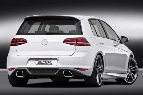 Caractere Rear Diffuser with Exhaust, fits Volkswagen 7 GTI / GTD