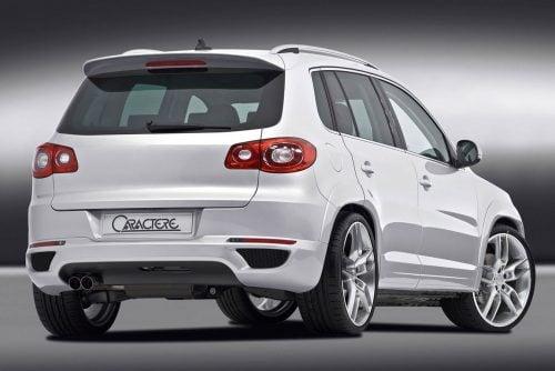 Caractere Rear Diffuser with Parking Sensors, fits Volkswagen Tiguan Mk1