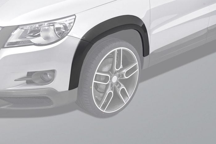 Caractere Wheel Arch Extensions Set with Parking Sensors, fits Volkswagen Tiguan Mk1