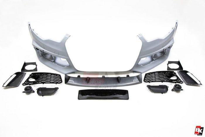 BKM Front Bumper Kit (Carbon), fits Audi A6/S6 C7.0