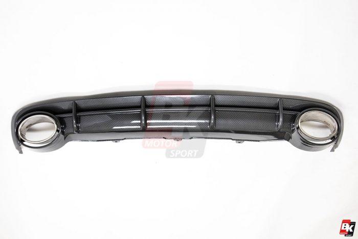 BKM Rear Diffuser (RS Style - Carbon), fits Audi A6 C7.0