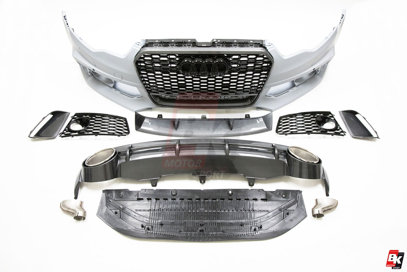 Bkm Front Bumper Kit With Front Grille And Rear Diffuser