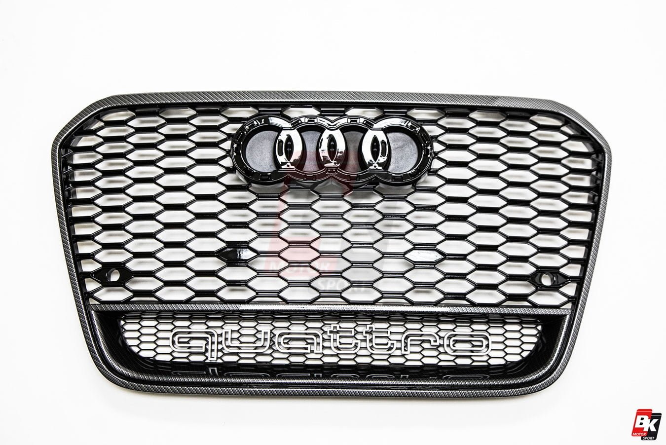 BKM Front Bumper Kit with Front Grille and Rear Diffuser (RS Style - Carbon), fits Audi A6 C7.0