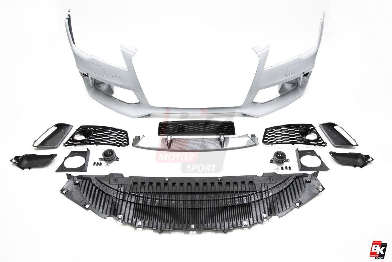 Bkm Front Bumper Kit Carbon Fits Audi A7 S7 C7 0 Bk Motorsport